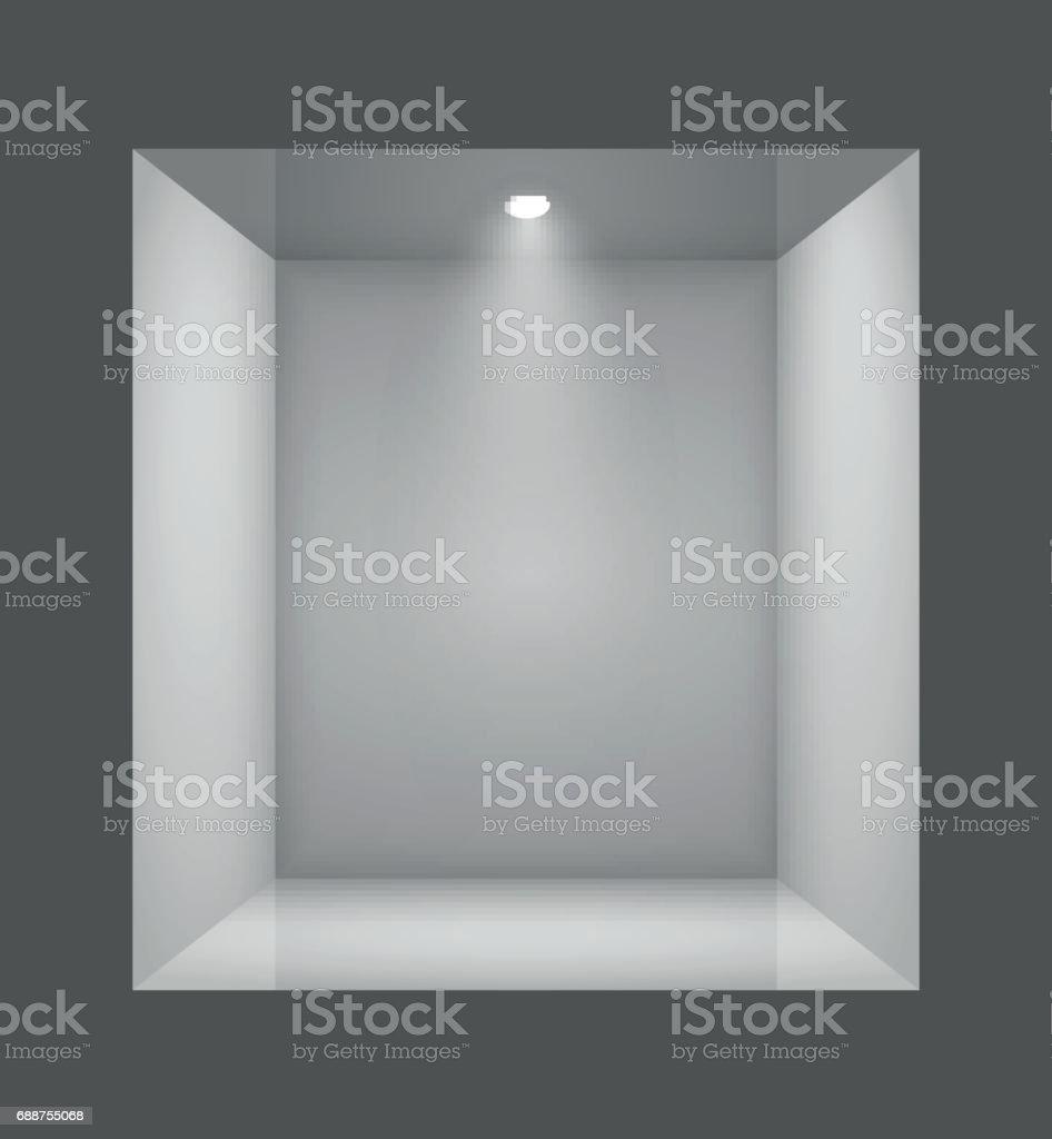 Show window of shop. vector art illustration