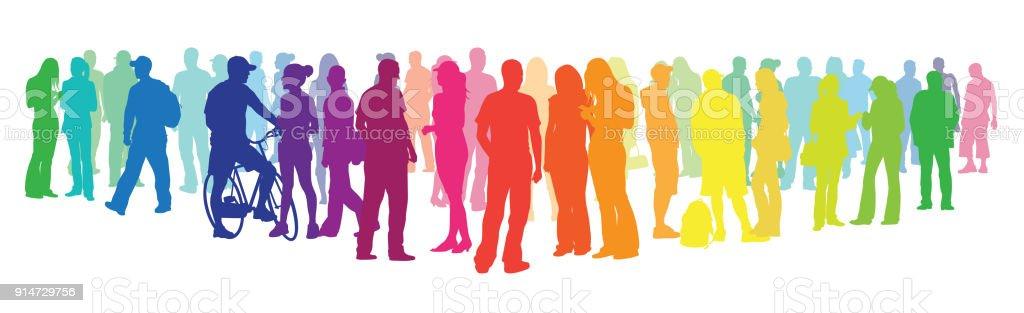 Ihre Farben-Publikum zeigen – Vektorgrafik