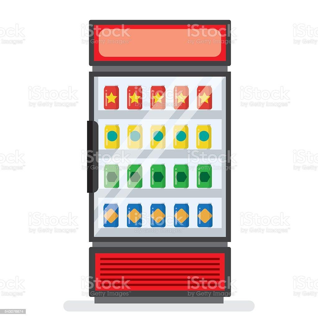 Vitrine Kühlschrank Für Kühle Getränke Stock Vektor Art und mehr ...
