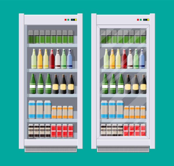 Vitrinen Kühlschränke für Kühlgetränke – Vektorgrafik