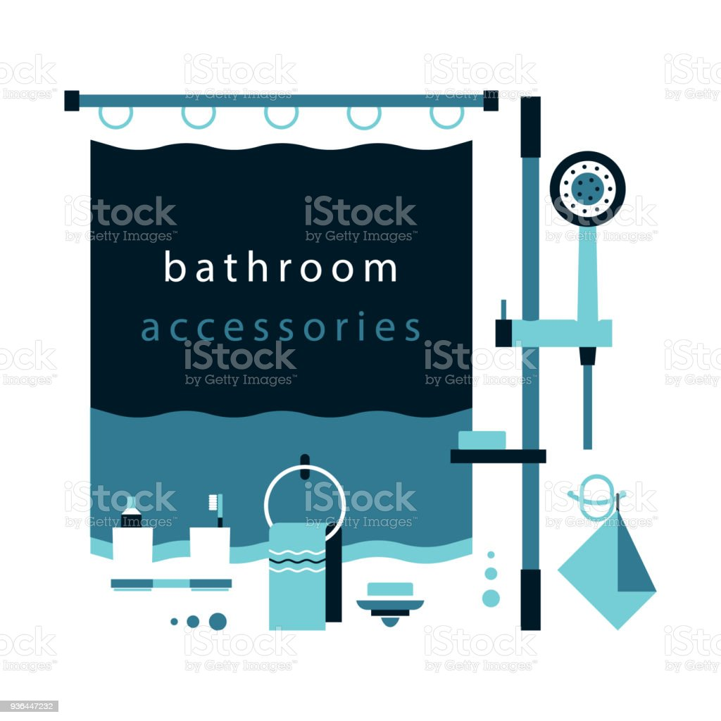 Shower Bathroom Curtain Towel Holder Cups For Toothpaste And ...