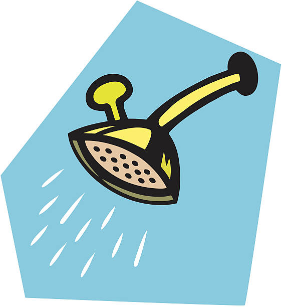 Shower head vector art illustration