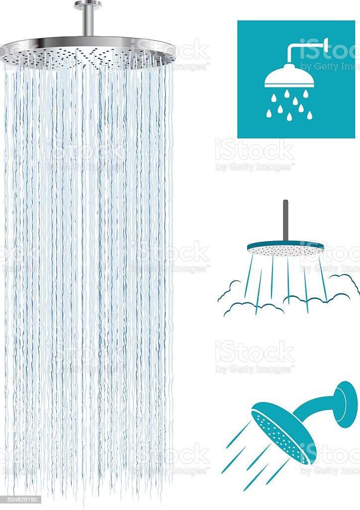 Cabeça do chuveiro - ilustração de arte em vetor