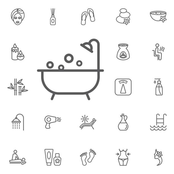 shower icon. beauty set of icons vector art illustration