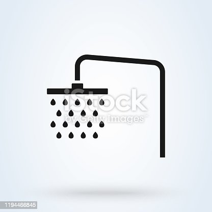shower icon  Simple vector modern design illustration.