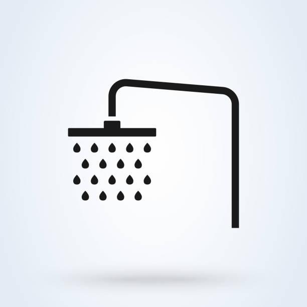 淋浴圖示 簡單向量現代設計插圖。 - 淋浴 幅插畫檔、美工圖案、卡通及圖標