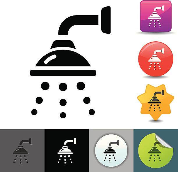 Shower icon | solicosi series vector art illustration