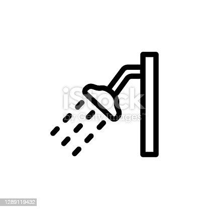istock Shower icon, vector, design trendy 1289119432