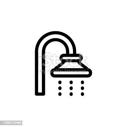 istock Shower icon, vector, design trendy 1289120489