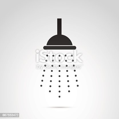 istock Shower vector icon isolated on white background. 667553472