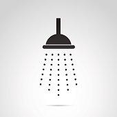 Vector art: shower symbol.