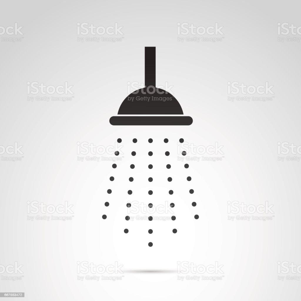Ícone de vetor de chuveiro isolado no fundo branco. - ilustração de arte em vetor