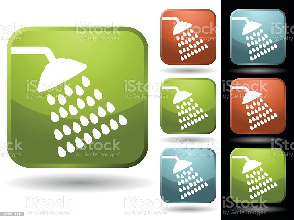 Shower royalty-free stock vector art