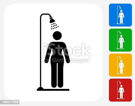 duschen symbol flache grafik design vektor illustration. Black Bedroom Furniture Sets. Home Design Ideas