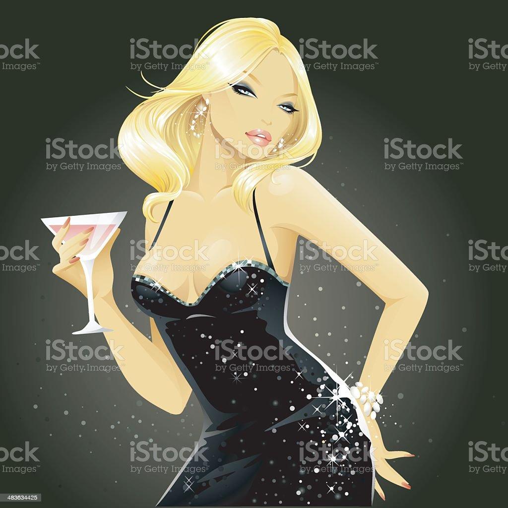 Showgirls (Blonde) vector art illustration