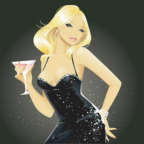 showgirls (blonde) - chihhang stock illustrations
