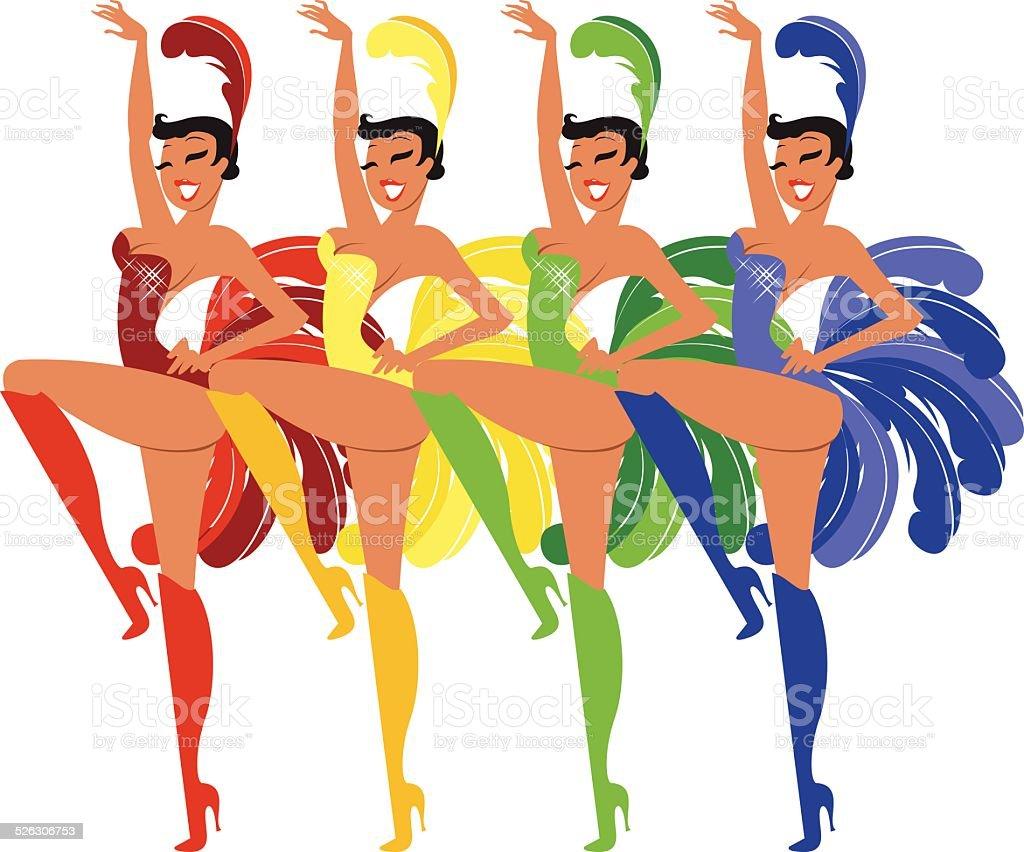 royalty free cabaret dancers clip art vector images illustrations rh istockphoto com Cabaret Graphics cabaret clipart images
