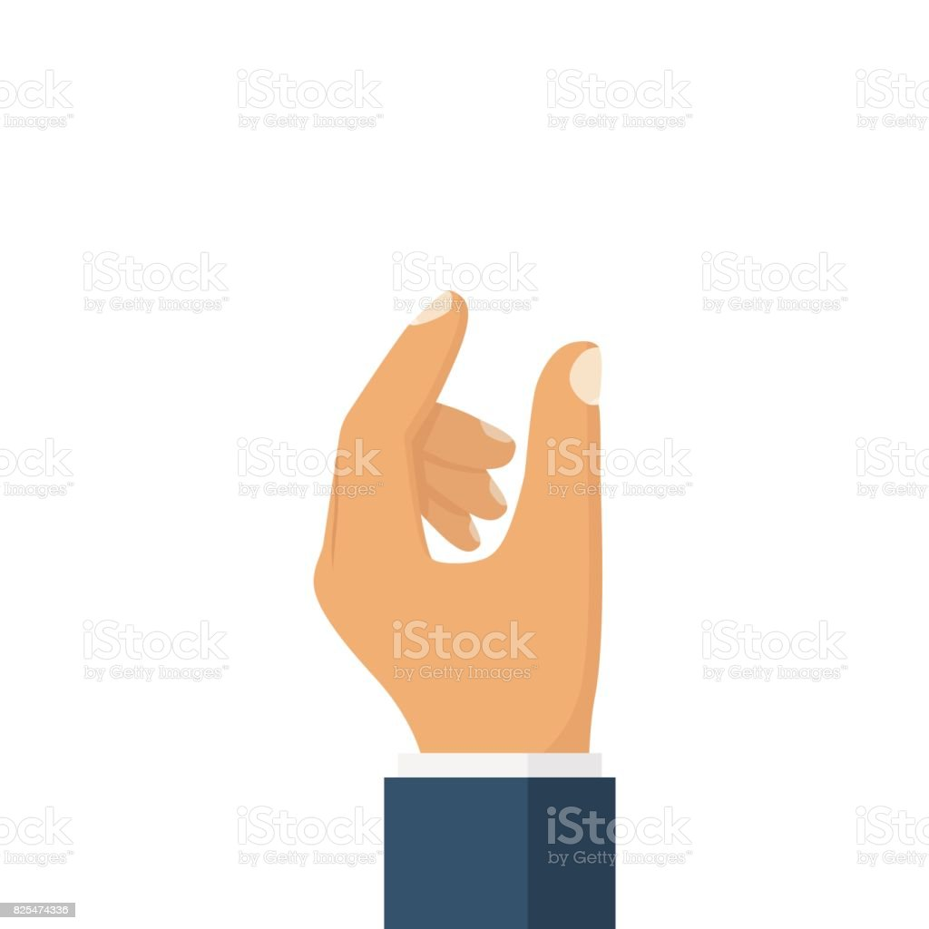 Showing small size. vector art illustration