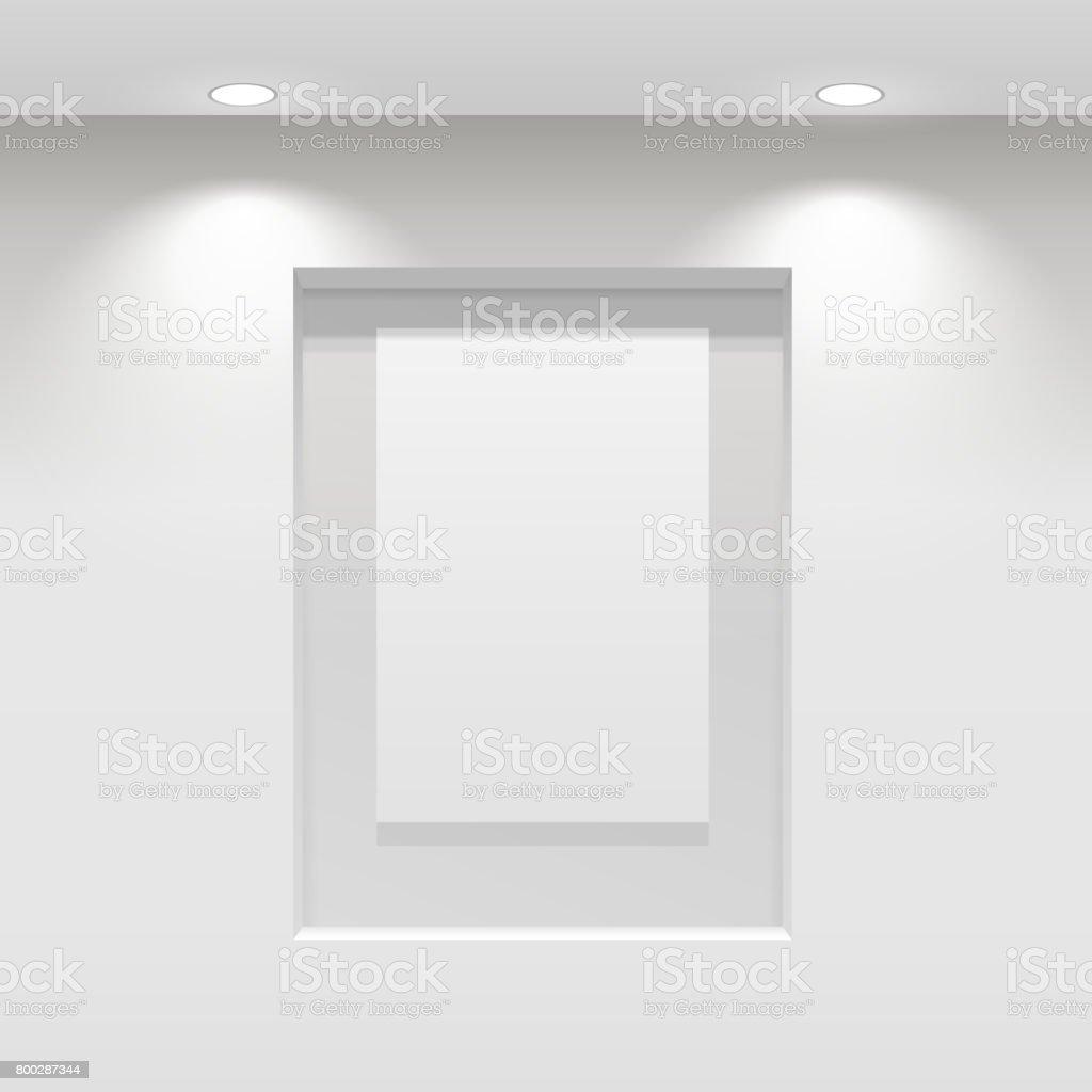 Showroom Panel. vector art illustration