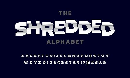 shredded alphabet