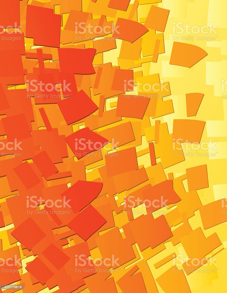 Shredded Orange royalty-free stock vector art