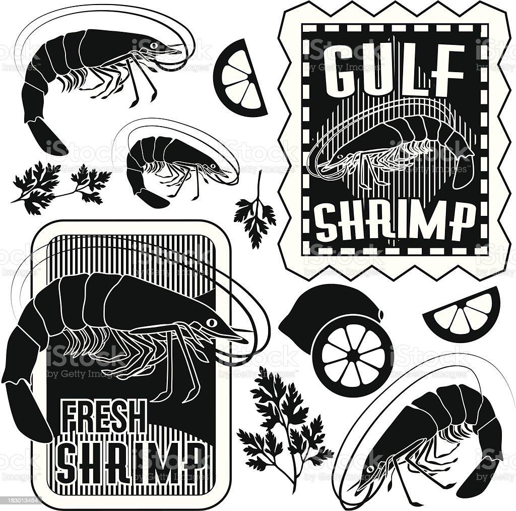 shrimp design elements royalty-free shrimp design elements stock vector art & more images of bay of water