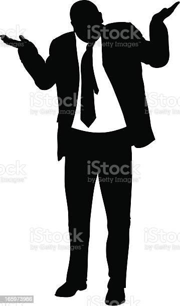Shrugging Businessman Stock Illustration - Download Image Now