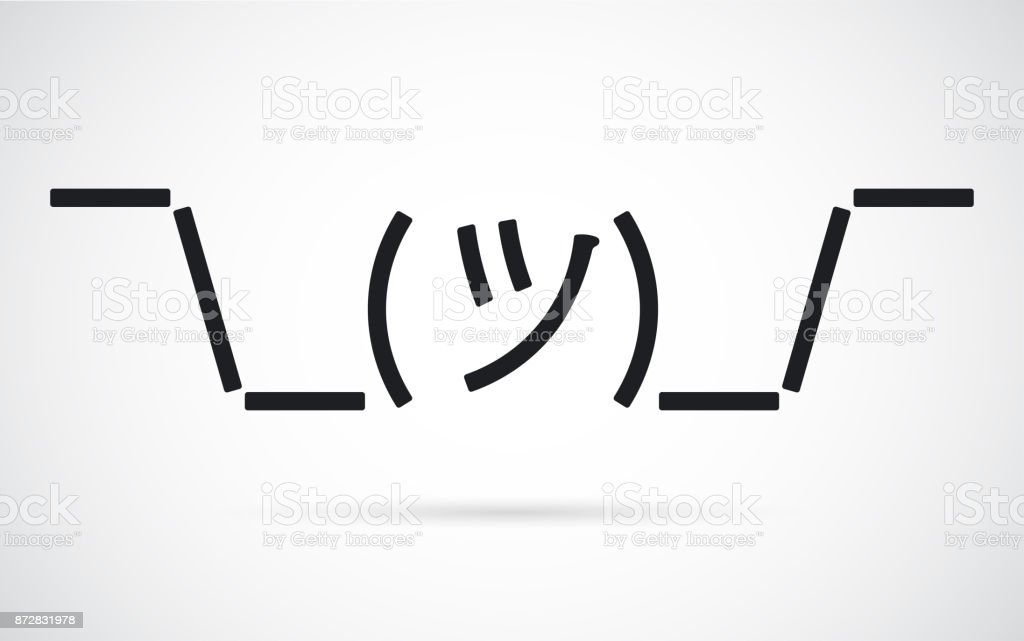 Haussement d'épaules-mug emoji - Illustration vectorielle