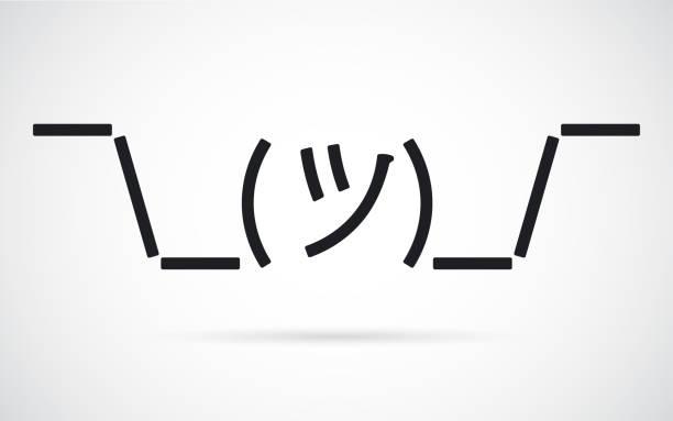 shrug-mug emoji - confused emoji stock illustrations, clip art, cartoons, & icons