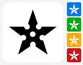 Shuriken Icon Flat Graphic Design