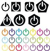 Shut down computer icons illustration vector