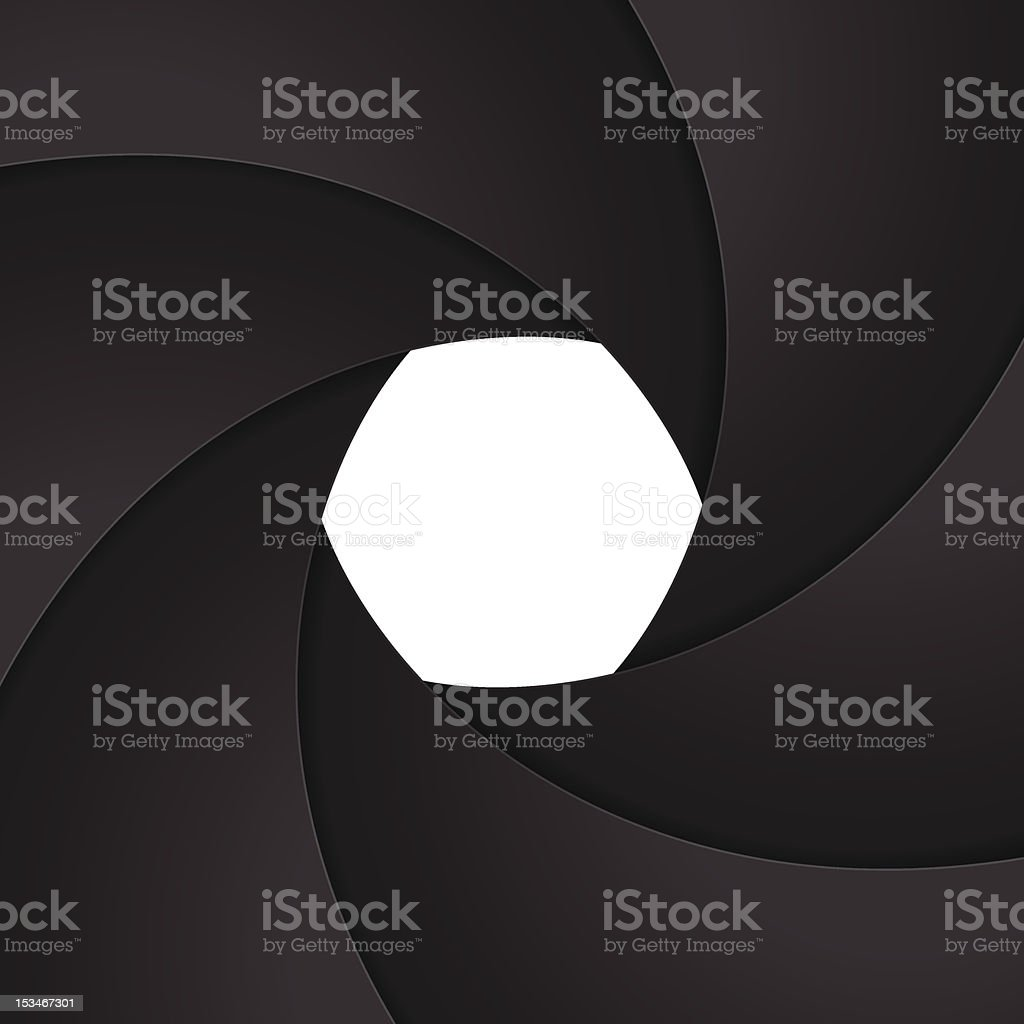 shutter aperture vector art illustration
