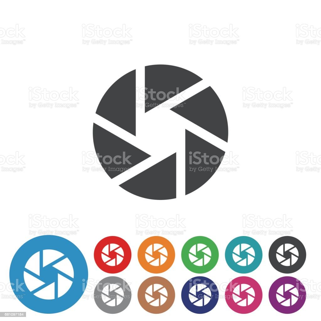 Shutter Icons Set - Graphic Icon Series royalty-free shutter icons set graphic icon series stock vector art & more images of blue