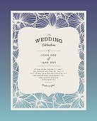 Laser cut vector wedding invitation with orchid flowers for decorative panel. Perfect for wedding or announcements, mothers day, valentines day, birthday cards. Floral pattern. Stylized drawing of orchids. Vector orchid. laser cutting paper, wood.