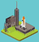 isometric space shuttle - high detail