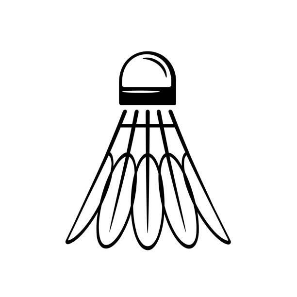 Shuttlecock icon. Badminton shuttlecock. Sports Equipment Badminton vector concept illustration for design shuttlecock stock illustrations