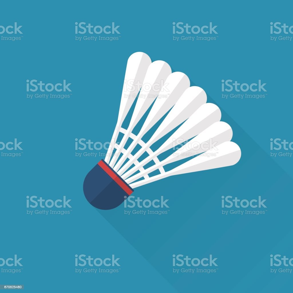 Shuttlecock icon flat vector art illustration