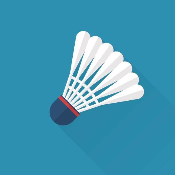 federball symbol flach - badminton stock-grafiken, -clipart, -cartoons und -symbole