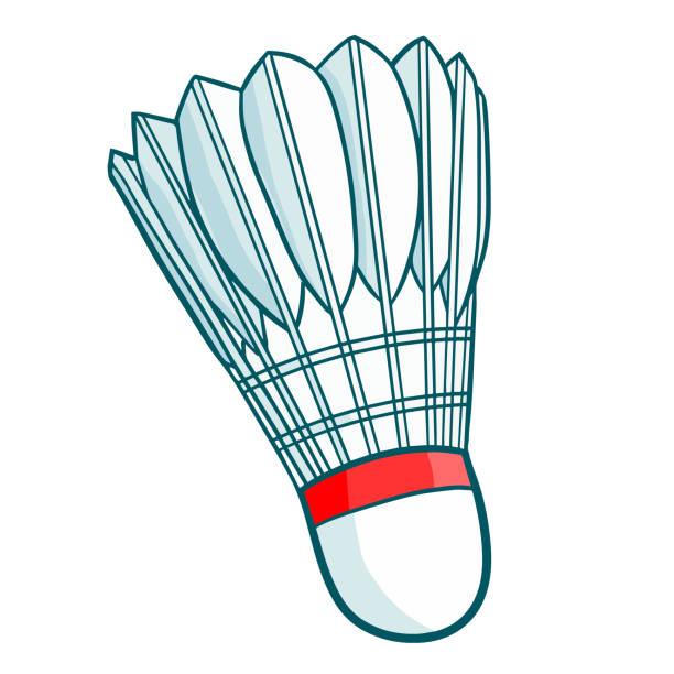 Shuttlecock. Funny red badminton shuttlecock - vector. shuttlecock stock illustrations