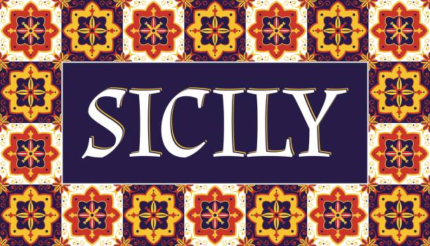 sicily travel banner vector - sicily stock illustrations