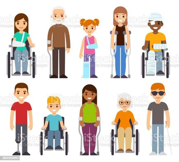 Sick and disabled characters set vector id865389650?b=1&k=6&m=865389650&s=612x612&h=9mb0sdiyuppk 9 sopqtjag1bndzjcktrukbrkf7rnw=