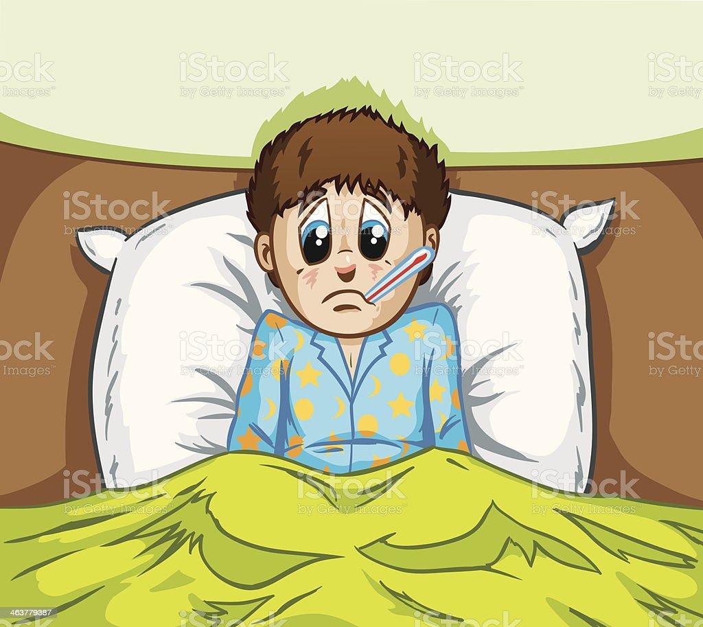 Sick Boy vector art illustration