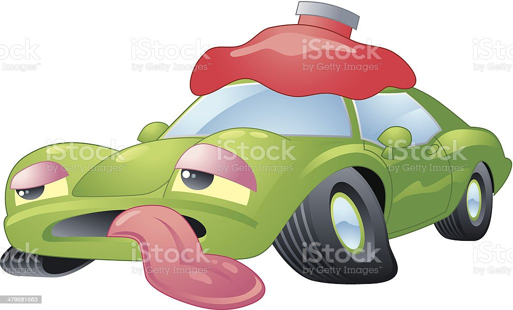 Sick Car C Stock Vector Art & More Images Of