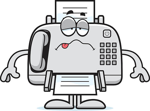 Best Cartoon Of A Fax Machine Illustrations, Royalty-Free -7005