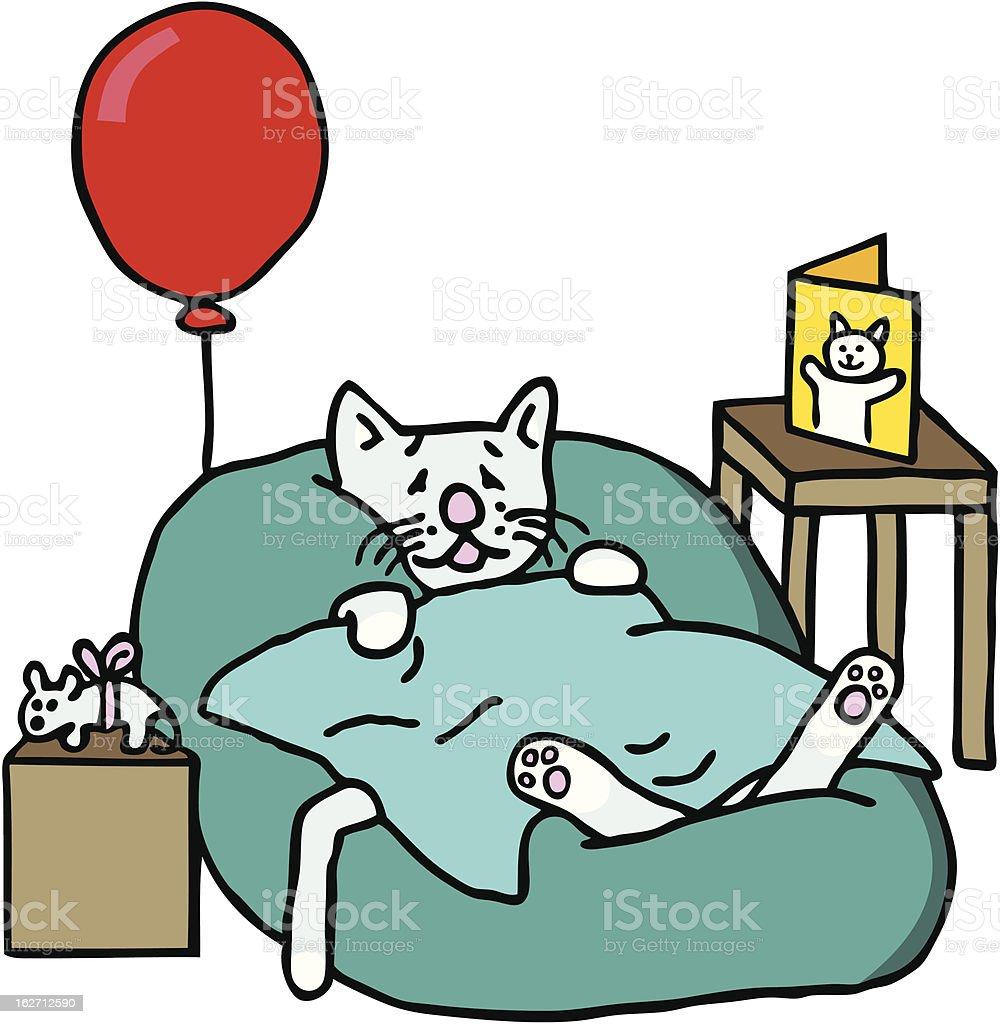 Krank Cat – Vektorgrafik