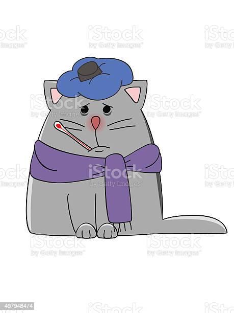 Sick cat vector id497948474?b=1&k=6&m=497948474&s=612x612&h=3yfgmirv8zsrchtydgl wu fnv tlnaamtskrdfapk0=