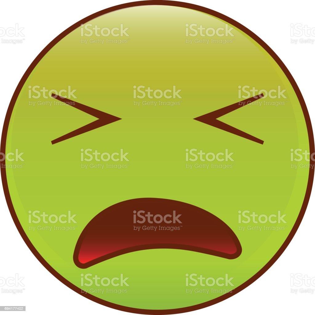 Sick emoticon. vector art illustration