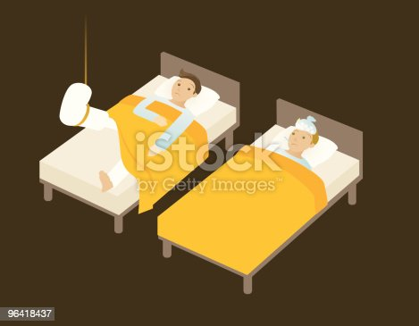 istock sick in bed 96418437