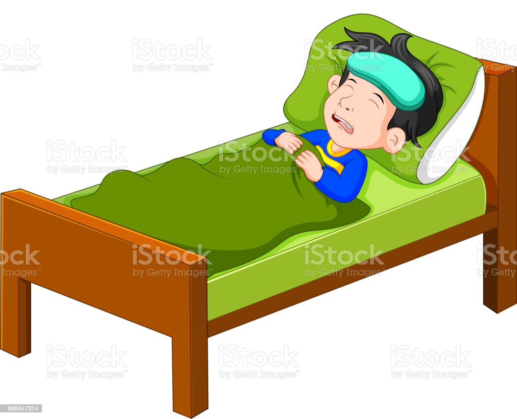 Sick kid lying in bed stock vector art more images of baby sick kid lying in bed royalty free sick kid lying in bed stock vector art thecheapjerseys Choice Image