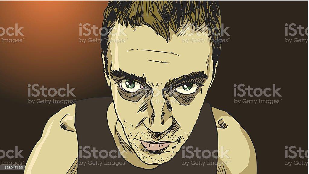 Sick looking man royalty-free stock vector art